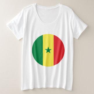 Senegal-Flagge Große Größe T-Shirt