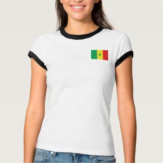 Senegal-Flagge + Karten-T - Shirt
