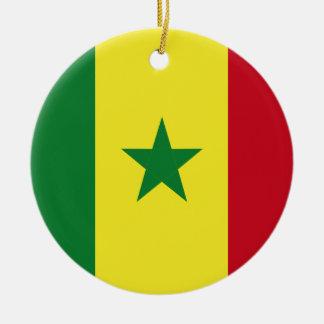 Senegal-Flagge Rundes Keramik Ornament