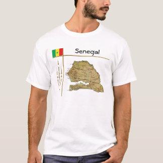 Senegal-Karte + Flagge + Titel-T - Shirt