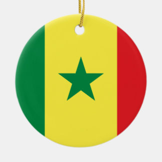 Senegal Rundes Keramik Ornament