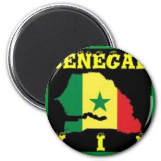 Senegal-T - Shirt (städtische Abnutzung) Runder Magnet 5,7 Cm