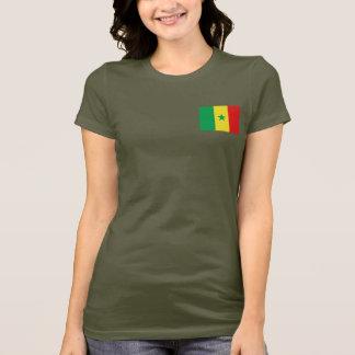 Senegalflaggen- und -karten-DK-T - Shirt