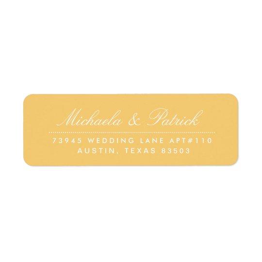 Senf-gelbe und koksgraue Adressen-Etiketten Rücksende Aufkleber