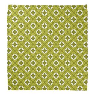 Senf-Grün-und weißesgeometrisches Muster Halstuch