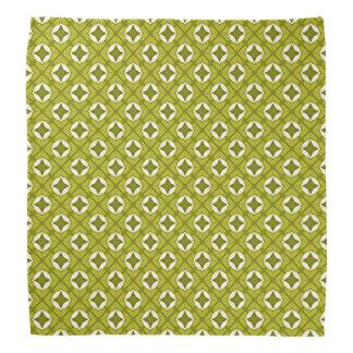 Senf-Grün-und weißesgeometrisches Muster Kopftuch