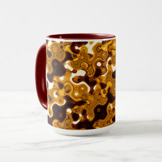Senf u. kombinierte Tasse Burgunders durch