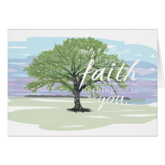 Senfkorn-Glaube Notecard, Matthew-17:20 Karte