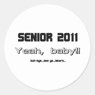 Senior 2011 runder aufkleber