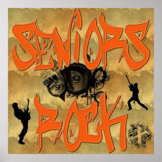 Senior-Felsen - Gitarrist-Plakat Poster