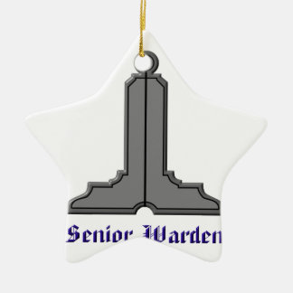 seniorwarden keramik Stern-Ornament
