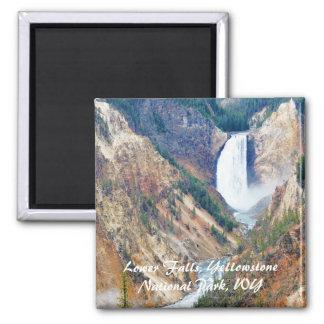 Senken Sie Fälle, Yellowstone-Park, WY Quadratischer Magnet