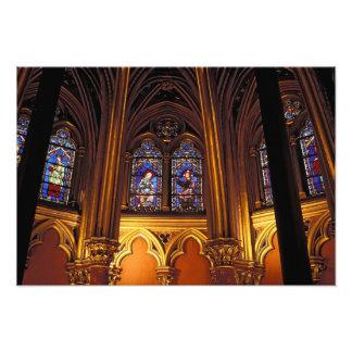 Senken Sie Kapelle von La Sainte-Chapelle, Paris,  Fotografische Drucke