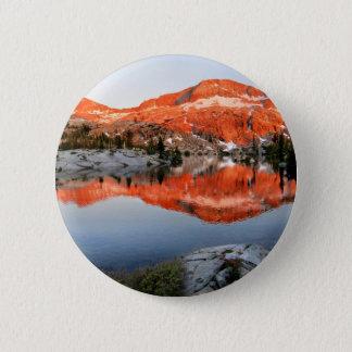 Senken Sie Ottoway See-Sonnenuntergang - Yosemite Runder Button 5,7 Cm