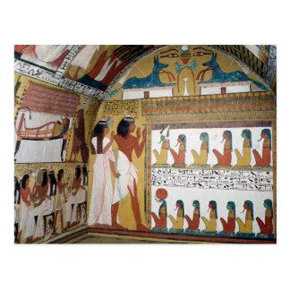 Sennedjem und sein Ehefraugegenüberstellen NAO Postkarte