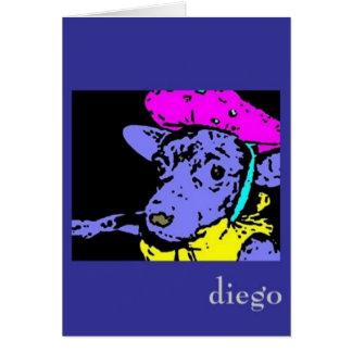 Senor Diego in cognito notecard Karte
