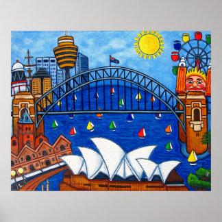 Sensationeller Sydney-Druck durch Lisa Lorenz Poster