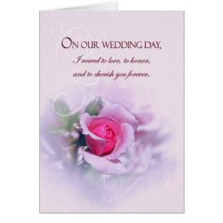 Sentimental Jahrestags-Hochzeits-Versprechen mit Grußkarte