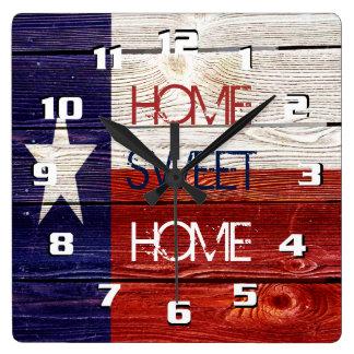 Sentimental und patriotisches Zuhause-süßes Quadratische Wanduhr