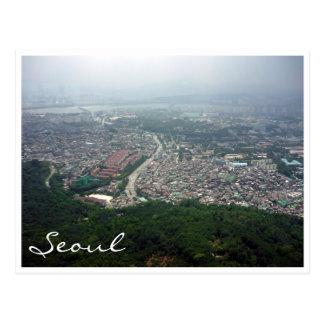 Seoul-Ansicht Postkarte