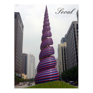 Seoul-Frühlingskunst Postkarte