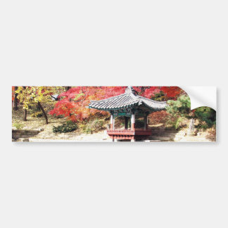 Seoul-Herbst-Japaner-Garten Autoaufkleber