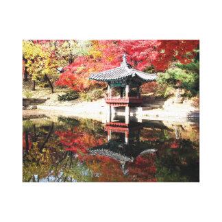 Seoul-Herbst-Japaner-Garten Gespannter Galerie Druck