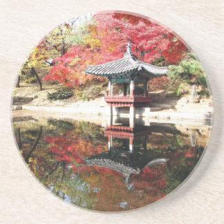 Seoul-Herbst-Japaner-Garten Getränkeuntersetzer