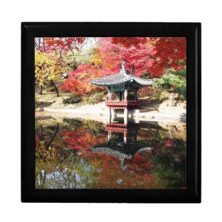 Seoul-Herbst-Japaner-Garten Große Quadratische Schatulle