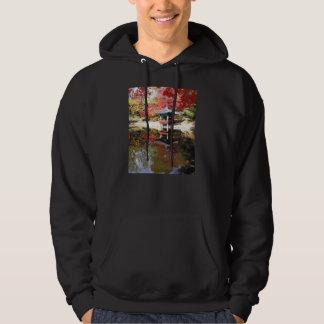 Seoul-Herbst-Japaner-Garten Kapuzensweatshirt