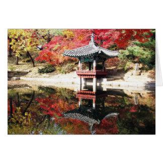 Seoul-Herbst-Japaner-Garten Grußkarte