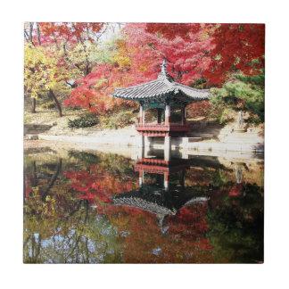 Seoul-Herbst-Japaner-Garten Kleine Quadratische Fliese