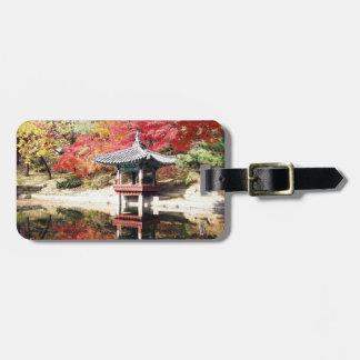Seoul-Herbst-Japaner-Garten Kofferanhänger
