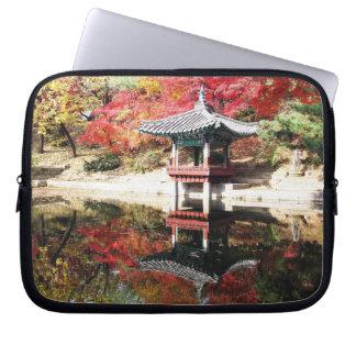 Seoul-Herbst-Japaner-Garten Laptop Sleeve Schutzhülle