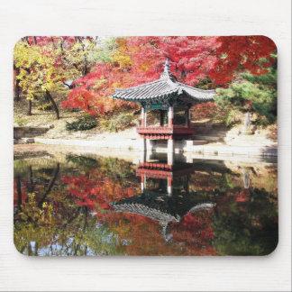 Seoul-Herbst-Japaner-Garten Mousepads