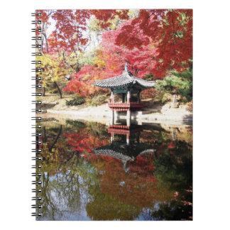 Seoul-Herbst-Japaner-Garten Notizbuch