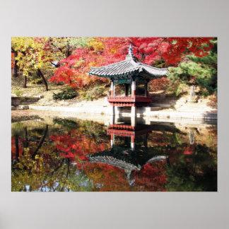 Seoul-Herbst-Japaner-Garten Poster