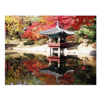 Seoul-Herbst-Japaner-Garten Postkarte