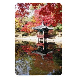 Seoul-Herbst-Japaner-Garten Vinyl Magnete
