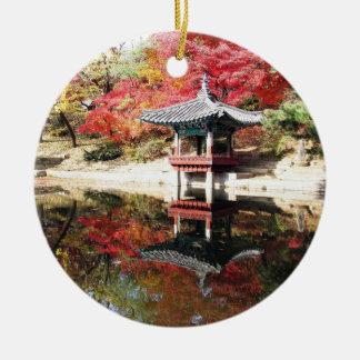 Seoul-Herbst-Japaner-Garten Rundes Keramik Ornament