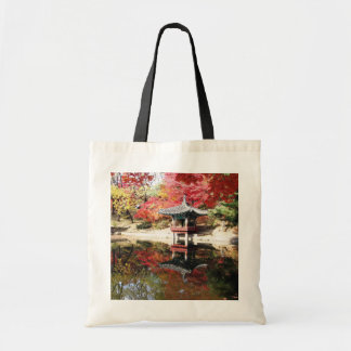 Seoul-Herbst-Japaner-Garten Leinentasche