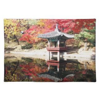 Seoul-Herbst-Japaner-Garten Tisch Set