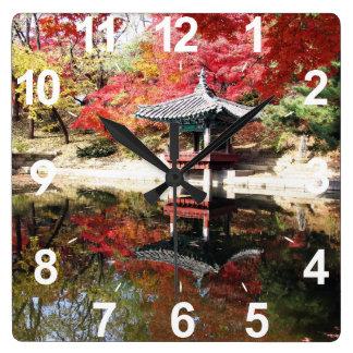 Seoul-Herbst-Japaner-Garten Uhr