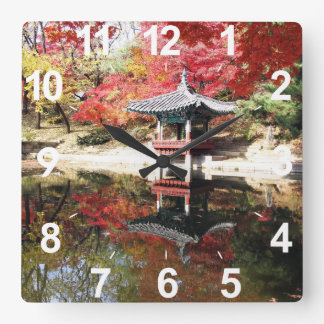 Seoul-Herbst-Japaner-Garten Wanduhren