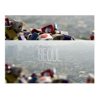 Seoul-Liebe-Verschlüsse Postkarte