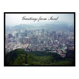 Seoul-Stadtansichtgrüße Postkarte