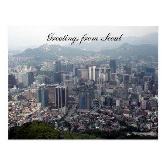 Seoul-Stadtgrüße Postkarte