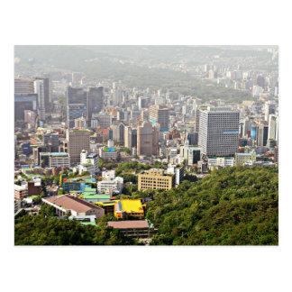 Seoul von oben postkarte