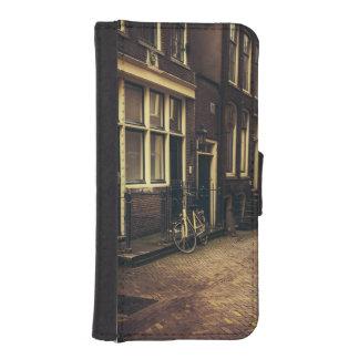 Sepia-Amsterdam-Straßen-Fotografie, Fahrrad iPhone 5 Portmonnaies