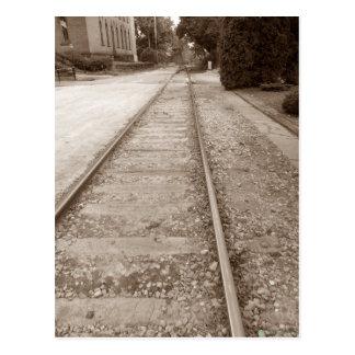 Sepia-Bahnstrecken Postkarte